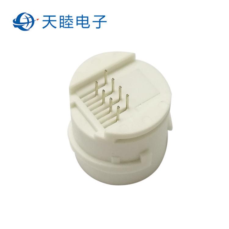 8P8C圆PIN针圆形防水RJ45母座 摄像头尾线网络母座