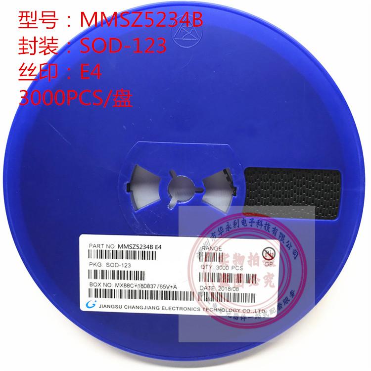 MMSZ5234B SOD123 E4 0.35W 6.2V 稳压二极管