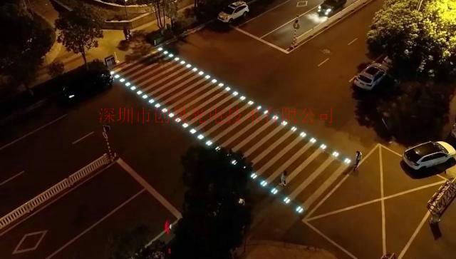 创建文明安全交通城市配套智慧发光斑马线