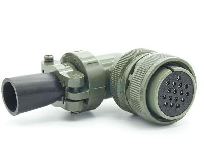 16芯航空插头5015系列弯式母头