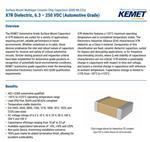 多层陶瓷电容器C1206C105K5RACAUTO