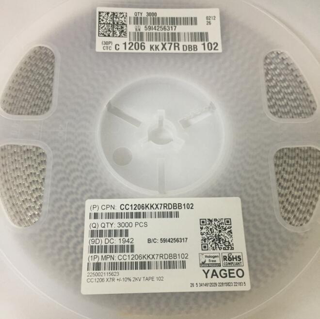CC1206KKX7RDBB102 陶瓷电容器
