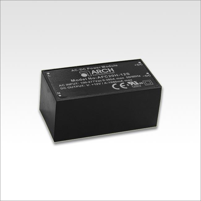 PCB安装模块电源AFC20H系列20W 90-305VAC输入 输出电压可调节