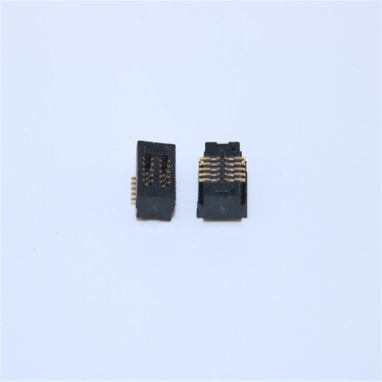 供应0.5mm间距板对板 2*5Pin 双槽 合高7.0H 直插公母座连接器