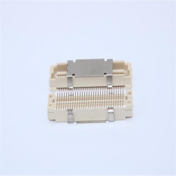 供应0.8mm间距板对板连接器 2*15Pin 单槽 合高5.0-8.5H 直插公母座
