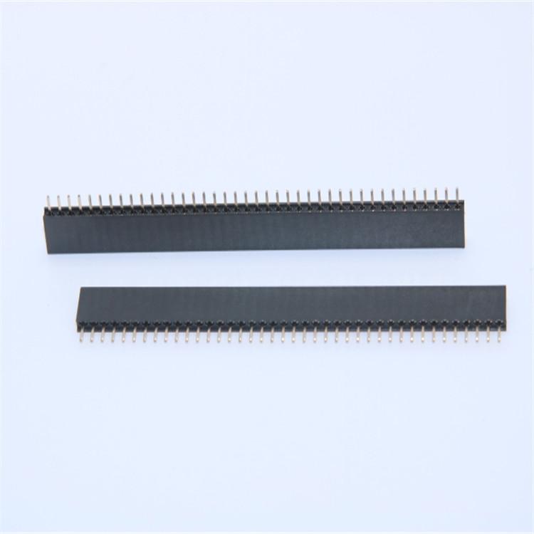 供应2.0mm排母 1*40 2*40Pin 6.35H 单 双排直针 插件式