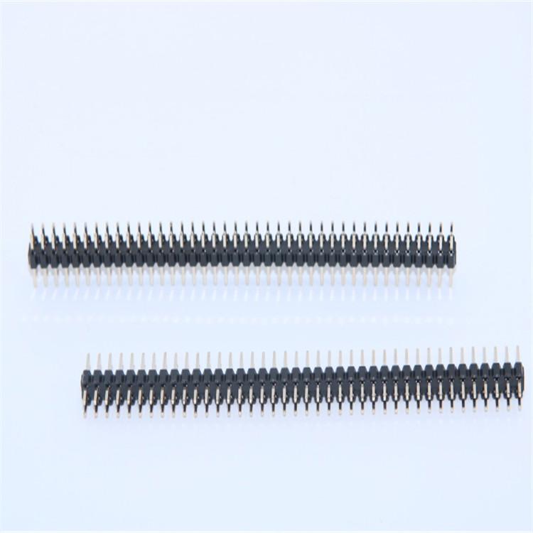供应2.54mm排针2*40Pin 2.54H双排直 弯针 常规插件式