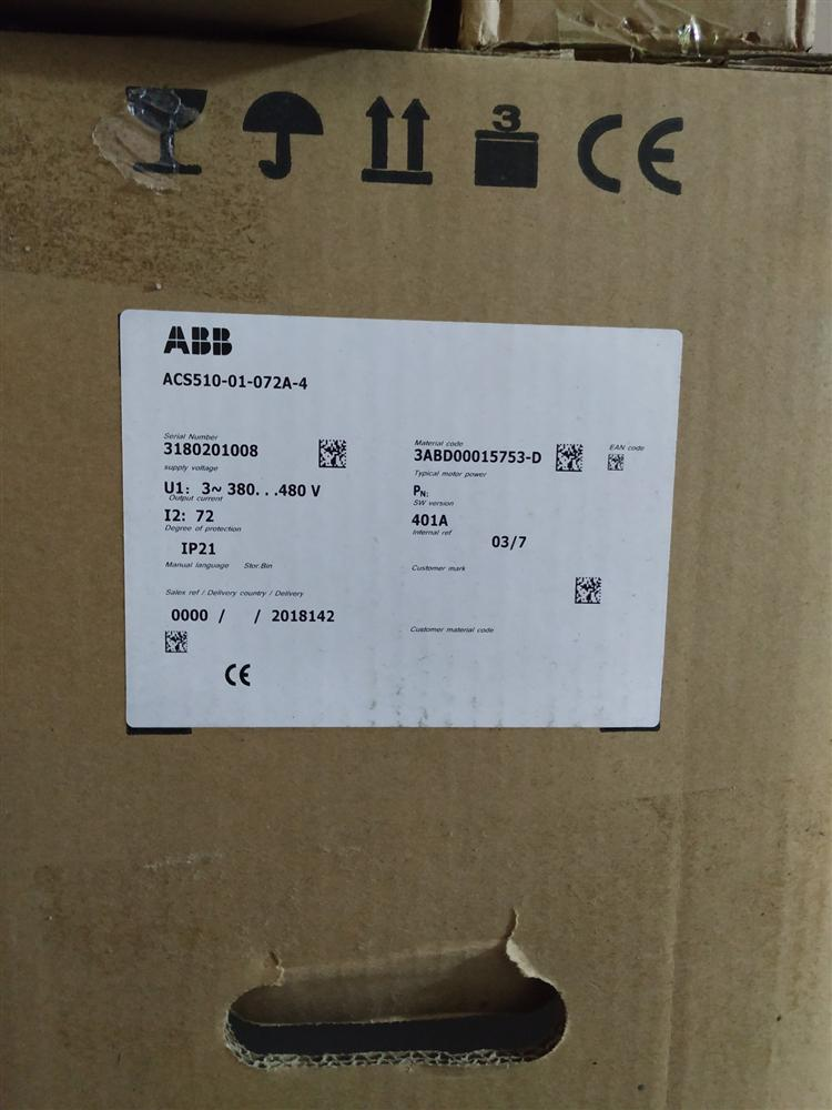 ABB��l器ACS510-01-072A-4*37KW 45KW 55KW 75KW 90KW 110KW