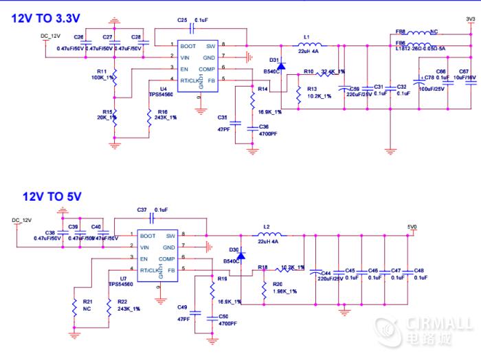 四轴F450无人机供电电路