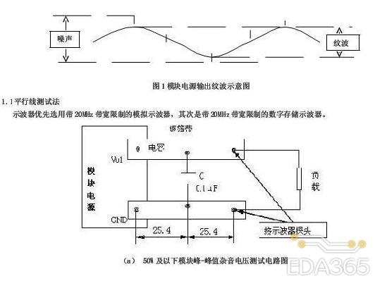 电源模块应用测试通用方案