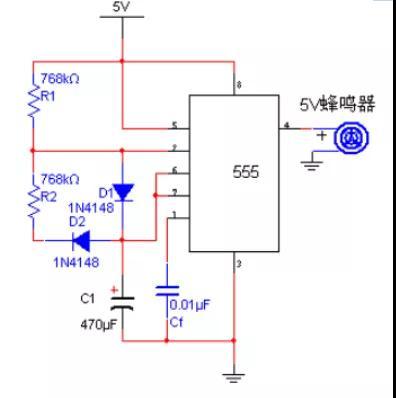 怎么利用555定时器产生1Hz脉冲的方波发生器