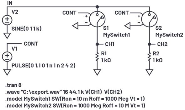 ADI - LTspice音频WAV文件:使用立体声和加密语音消息